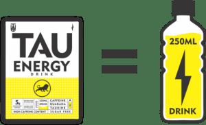 TAU Energy Drink Golden Rush Flavour Sugar Free Sachet 5g