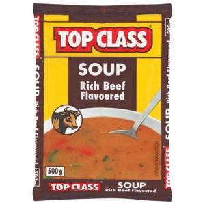 Top Class Soup Rich Beef Flavour 500g