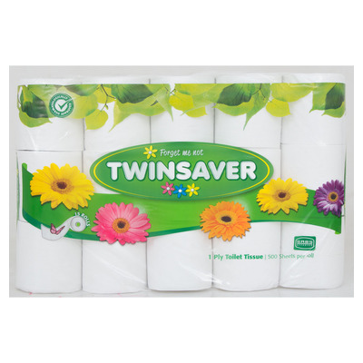 Twinsaver Toilet Paper 1ply x 24