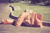 Orange Mondi recycling bags