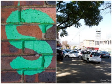 Green S on Wall
