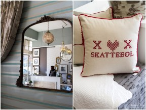 Large VIntage Mirror and Scatter cushions