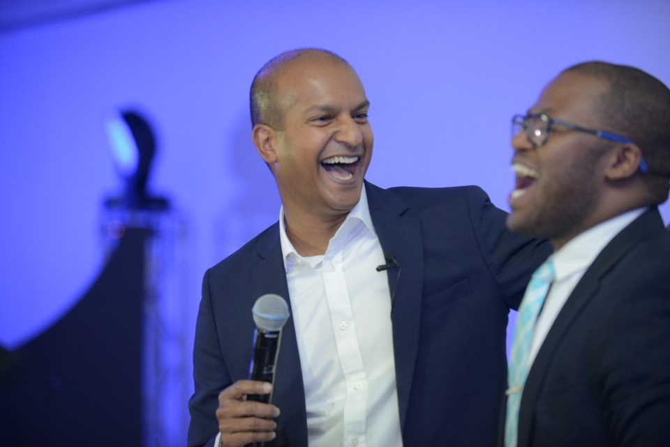 GM Vijay Govindsamy with Khaya Dlanga