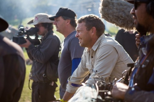 Justin Bonello and crew watching the teams behind the scenes