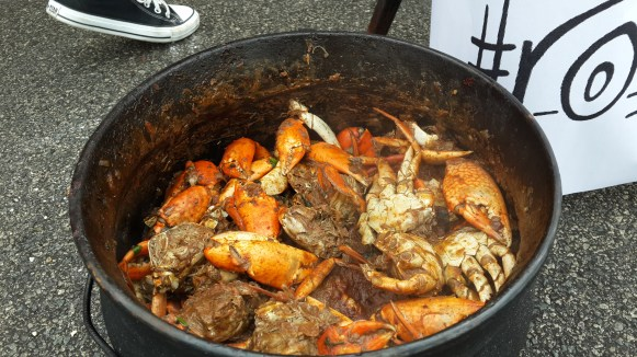 A risky choice to serve at the auditions but Team The Roadies' crab curry was a hit.