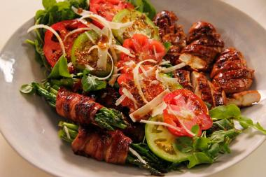 Chicken Salad with Bacon-Wrapped Greens (Copy)