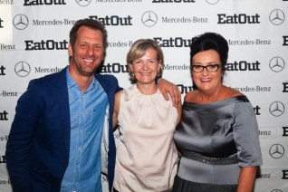 Restaurant of the Year_Luke Dale-Roberts of The Test Kitchen with Claudia Walters of Mercedes-Benz and Abigail Donnelly of Eat Out/