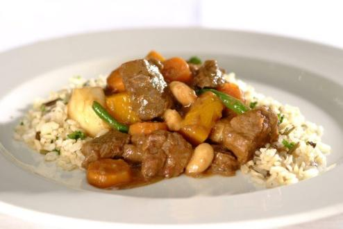 Hearty Beef Stew with Butterbeans and Veggies By Chef Mary Worthington