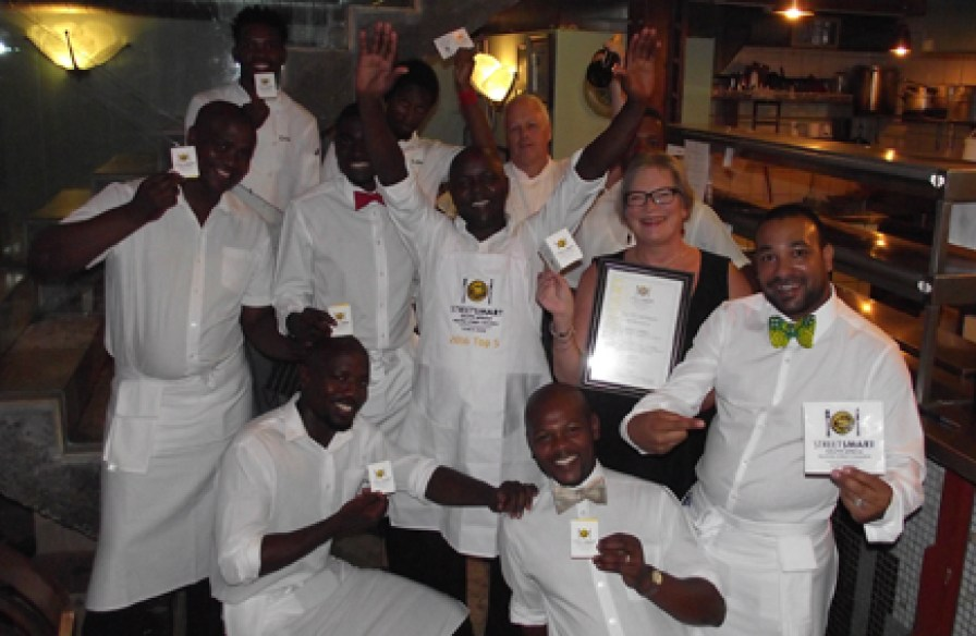 Savoy Cabbage Team with owner, Caroline Bagly, and Chef Peter Pankhurst LR