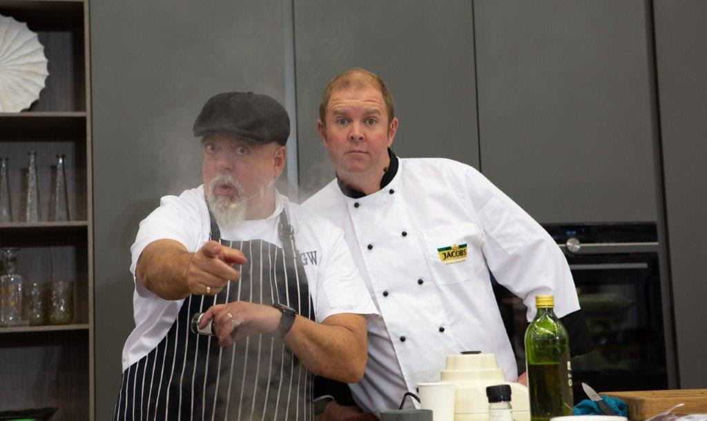 Renowned South African chef, MasterChef judge and the Ultimate Braai Master - Pete Goffe Wood and Celebrity MasterChef winner and one of South Africa's funniest comedians - Chris Forrest are teaming up for a feast of fun at the Jacobs Gourmet Cooking Theatre at Decorex Joburg.