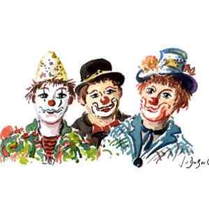 Clown stories - Aquarelle de JC Duboil