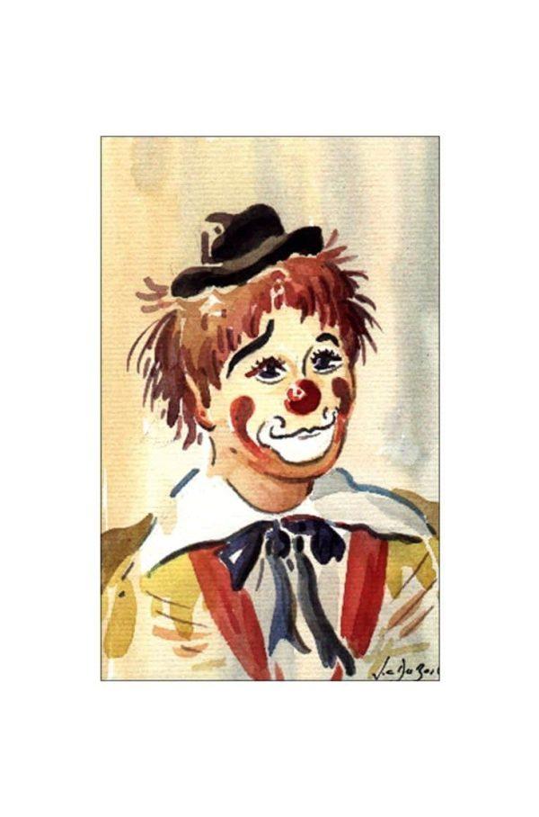Attitude de clown - Aquarelle de JC Duboil