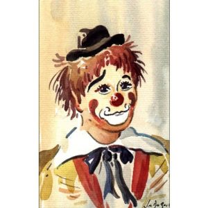 Attitude de clown - Aquarelle de JC Duboil