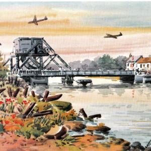 D-Day Pégasus bridge Pont de Bénouville - Aquarelle de JC Duboil
