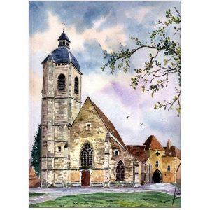 Église Saint-Laurent - Nogent-le-Rotrou - Aquarelle de Jean-Pascal Duboil