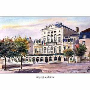 Mairie - Nogent-le-Rotrou - Aquarelle de Jean-Pascal Duboil