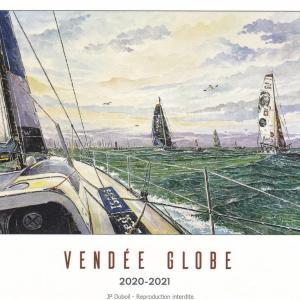 Carte postale Vendée Globe 2020-2021 - Aquarelle JP Duboil