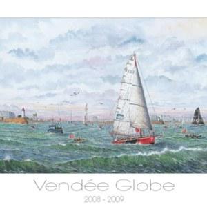 Affiche du départ du vendée Globe 2008-2009 par JP Duboil