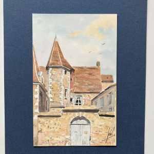 Manoir Michelet à Nogent-le-Rotrou - Rue Bourg-Le-Comte - Aquarelle JP Duboil