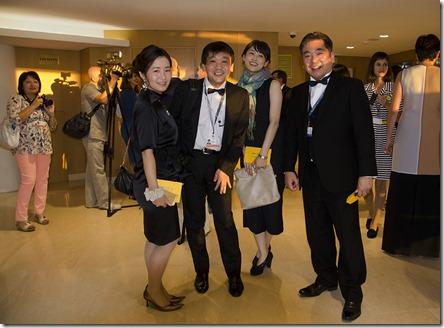 Японская делегация на открытии