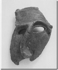 Глиняная ритуальная маска пьяного