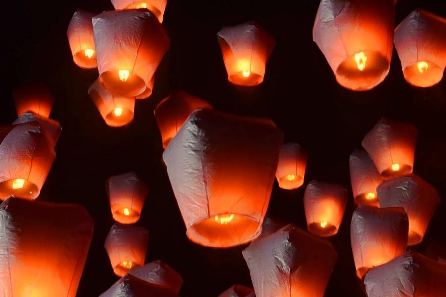 台湾平溪天燈節・台湾平溪祭のランタン