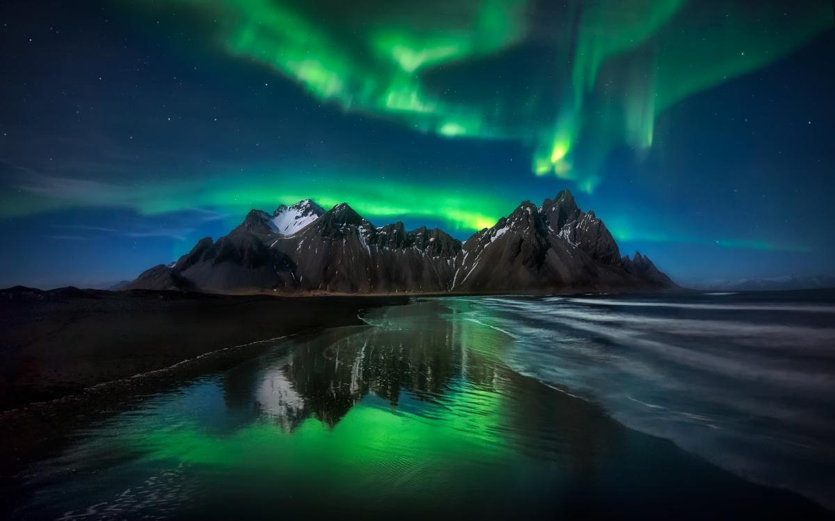 europe iceland aurora spot
