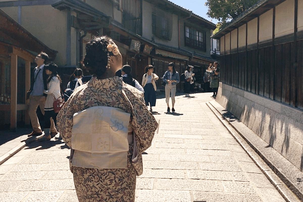 日本国内旅行:着物をレンタルして京都の街を散策