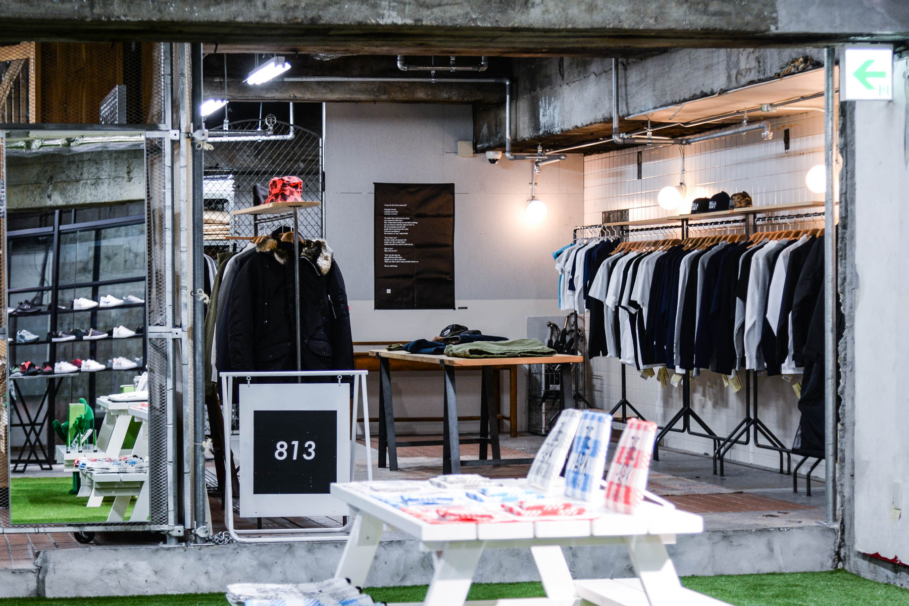 THE PARK・ING GINZA 813 fragment desing BE@RBRICK DENIM BY VANQUISH & FRAGMENT MAD STORE