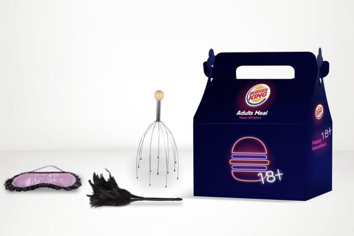"""Burger King が大人向けの""""アダルトミール""""をバレンタイン限定で発売"""