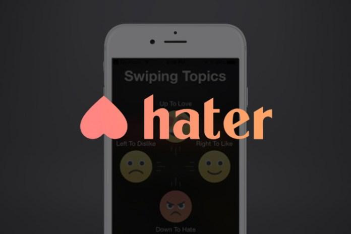 """""""嫌いなものが合う人""""を探してくれるマッチングアプリ、その名も『Hater』"""