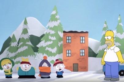 『ザ・シンプソンズ』がカウチギャグで『サウスパーク』に乱入