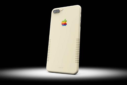 「Apple IIe」のレトロなデザインにカスタムした iPhone 7 Plus