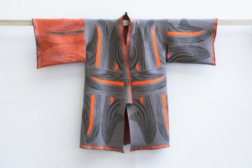 YEEZY BOOST 350 V2 で制作した着物ジャケット