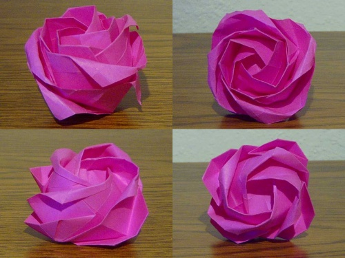 Cademy on   Easy origami flower, Easy origami rose, Origami diagrams   375x500