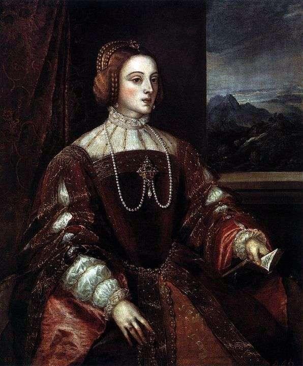 ポルトガルのイザベラの肖像 – Titian Vecellio