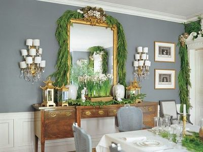 love this glamorous dining room - #mirror, #sconces, # ... on Dining Room Sconce Idea id=75212