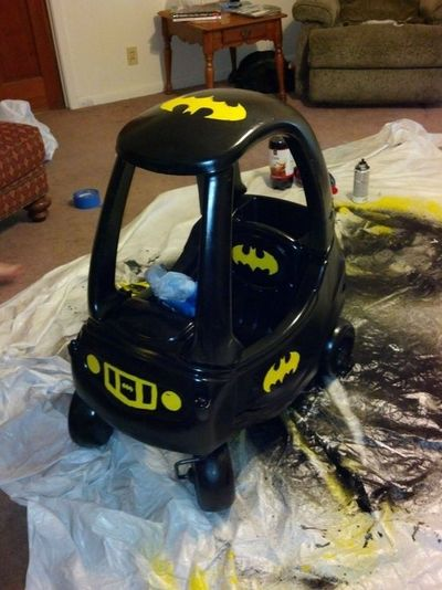 Turn Little Tykes Car Into Batmobile Baby Time Juxtapost