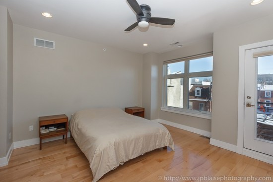 Interior photographer work: master bedroom on 3rd floor