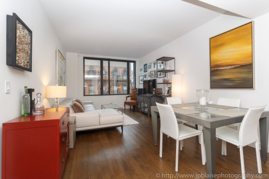 Apartment photographer real estate interior condo one bedroom east village living room