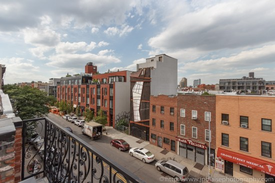 Apartment photography View from Terrace of one bedroom apartment in Williamsburg Brooklyn New York