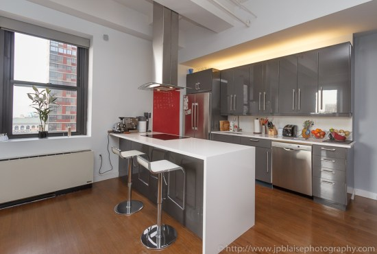 Kicthen interior photography in downtown brooklyn nyc apartment