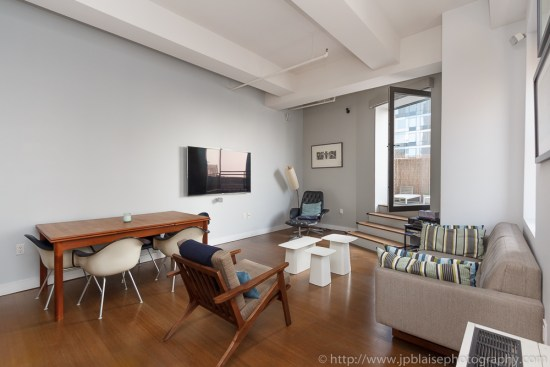 Apartment photography of a two bedroom unit in downtown brooklyn in New York City living-room