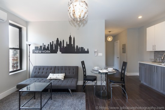Interior photographer work three bedroom apartment in flatbush brooklyn ny