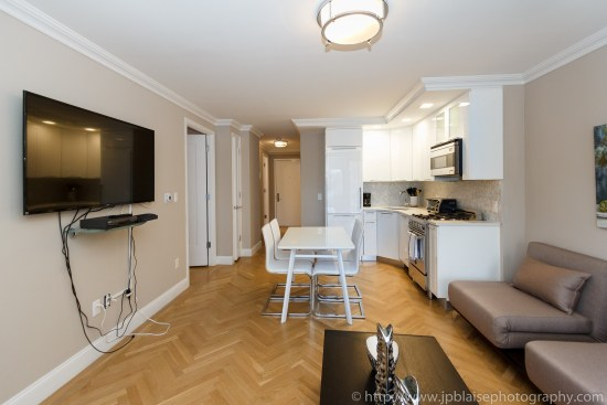Interior photography new york one bedroom apartment on upper east side