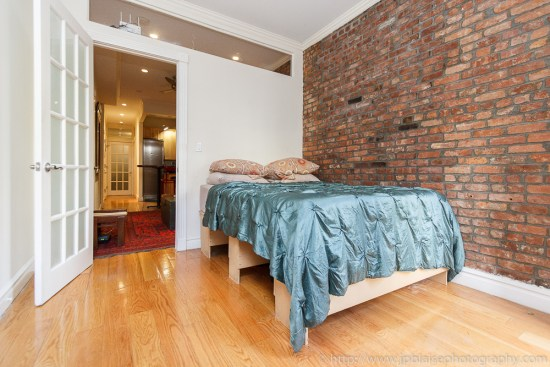 Interior photographer took bedroom pictures of east village apartment in nyc