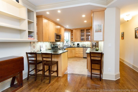 Professional photography of open kitchen of three bedroom apartment in Brooklyn, NY