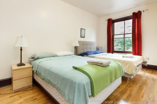 Interior photographer work three bedroom apartment in harlem new york second bedroom