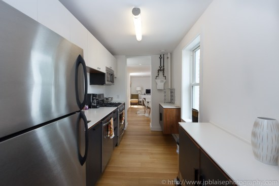 Kitchen NYC Real estate photographer two bedroom apartment in west village manhattan