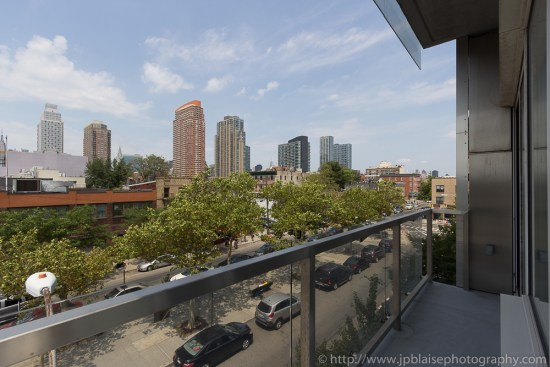 Photography of view from Balcony of 2 bedroom apartment in Long Island City in Queens, New York